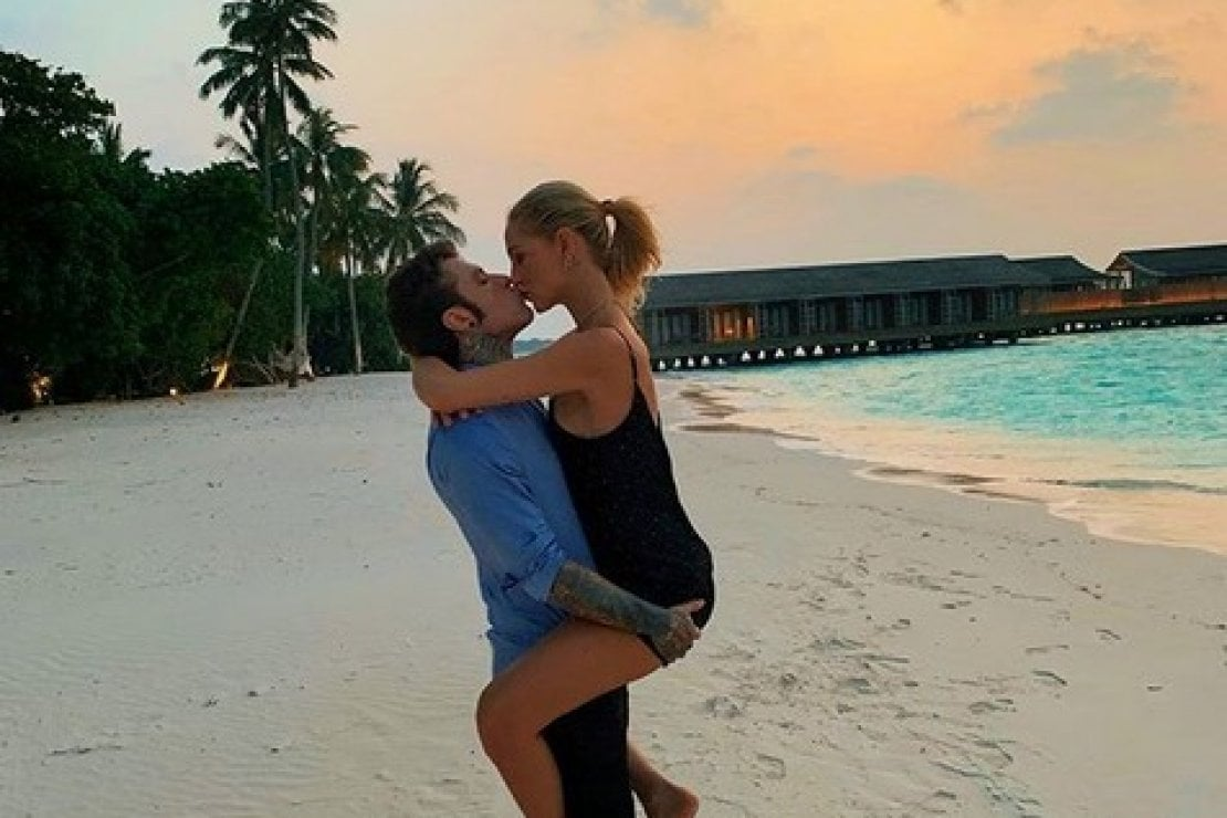 Chiara Ferragni e Fedez sono partiti per le Maldive, foto tratta dall'account Intagram @fedez