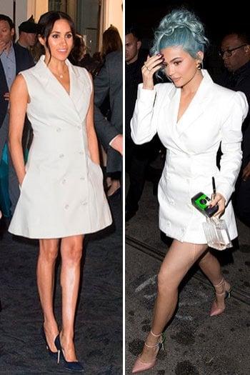 Stesso abito per Meghan Markle e Kylie Jenner: chi lo indossa meglio?