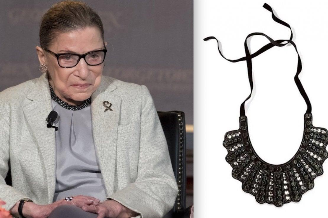 La ''collana del dissenso'' di Ruth Bader Ginsburg torna in vendita per raccogliere fondi contro Trump. Ed è già sold out