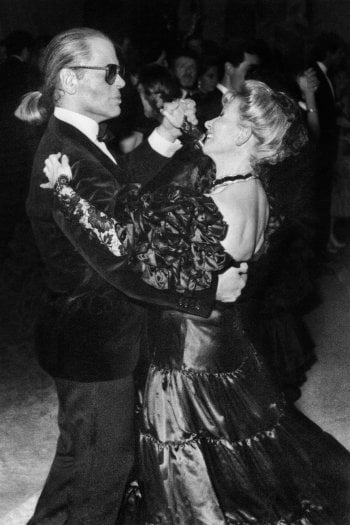 Karl Lagerfeld e Anna Fendi in un ballo a Salisburgo. Foto per gentile concessione di Alda Fendi