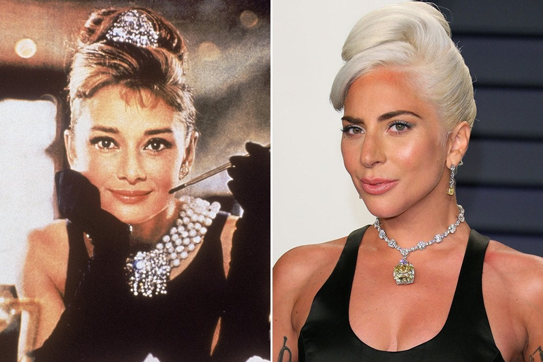 Lady Gaga, la collana da 30 milioni di dollari e l'omaggio a Audrey Hepburn