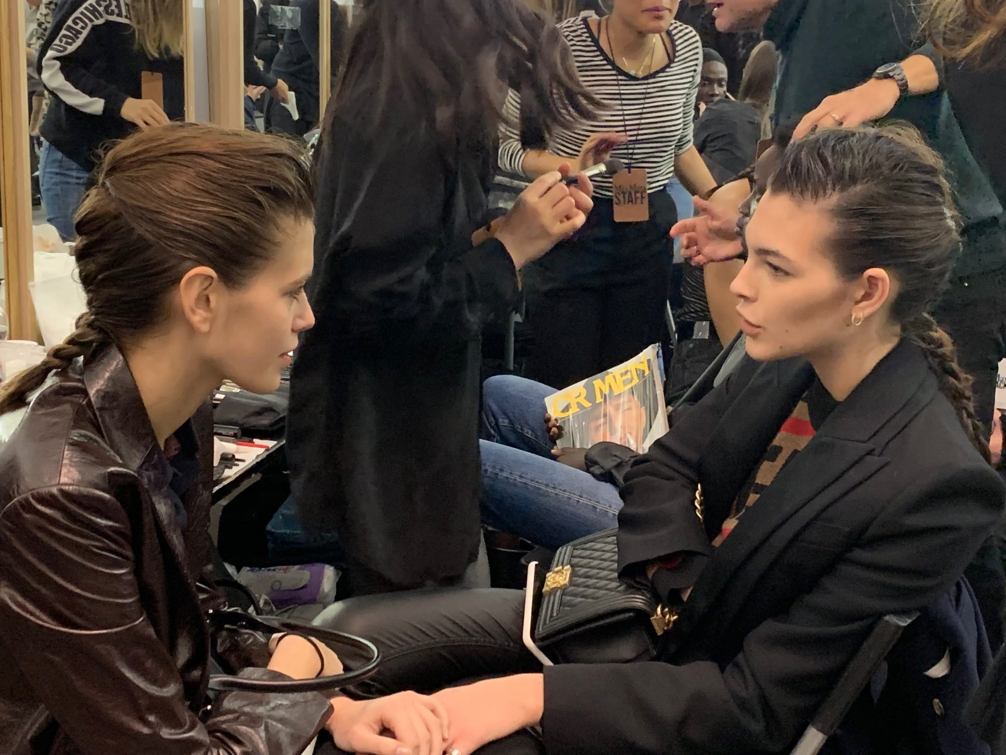 Kaia Gerber e Vittoria Ceretti backstage Max Mara