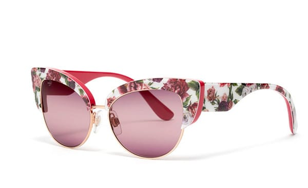 Cat eyes con stampa fiori, Dolce&Gabbana;