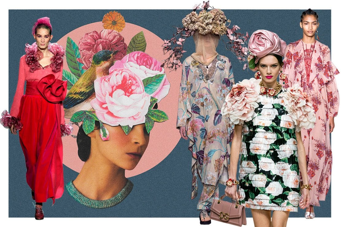 Da sinistra a destra, Marc Jacobs, foto artistica Desiree Feldman, Antonio Marras, Dolce&Gabbana, Giambattista Valli