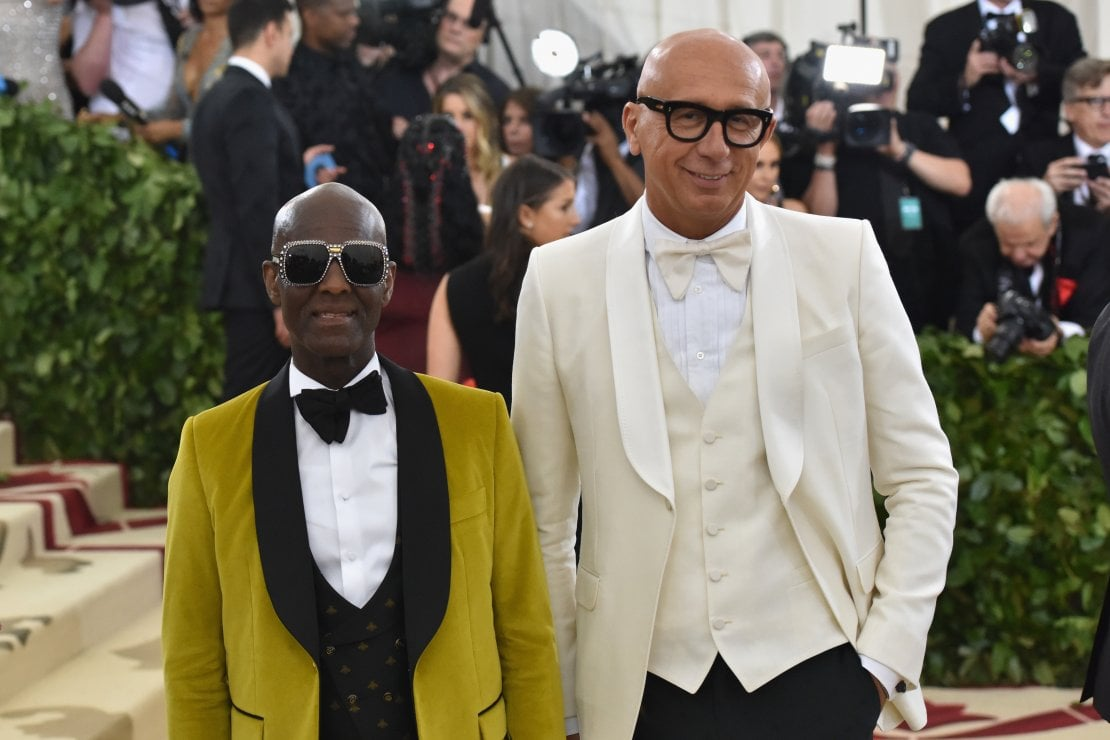 Lo stilista di Harlem Dapper Dan, coinvolto in Gucci Changemakers, e Marco Bizzarri, Presidente e CEO di Gucci
