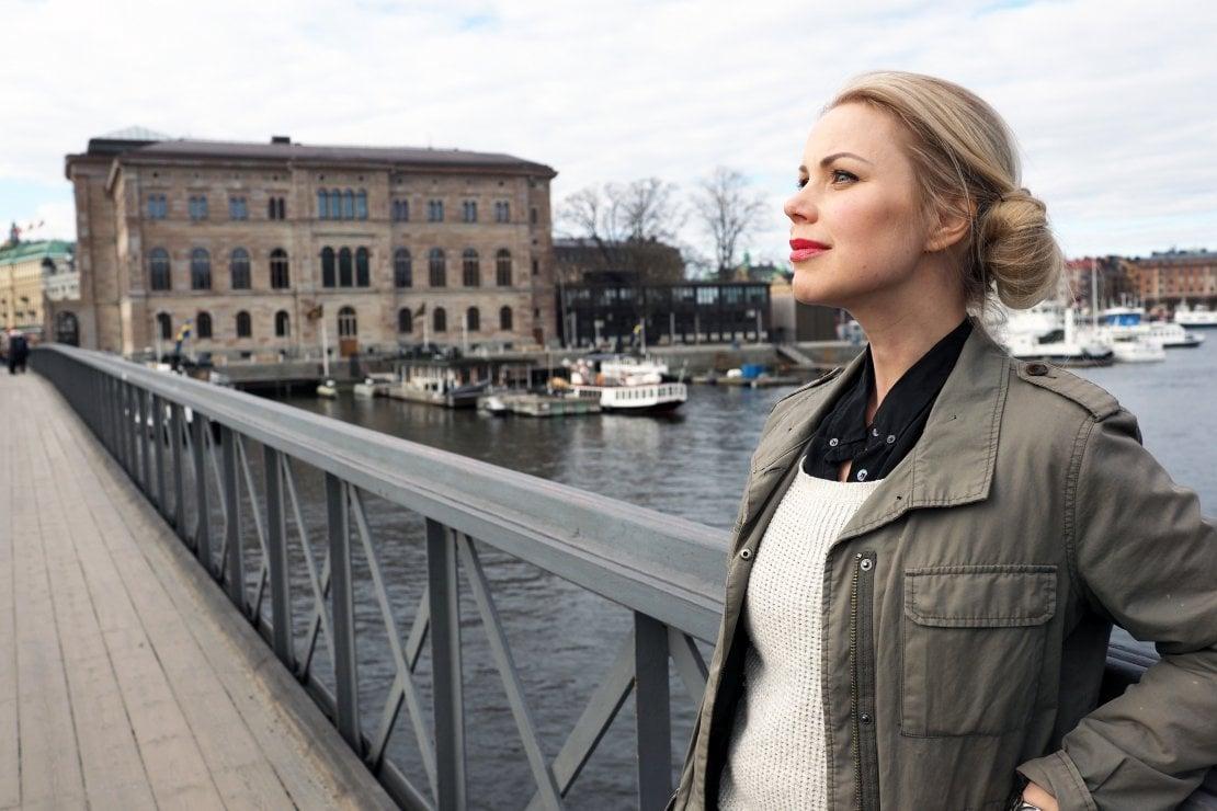 La scrittrice ritratta da Sven Lindblad