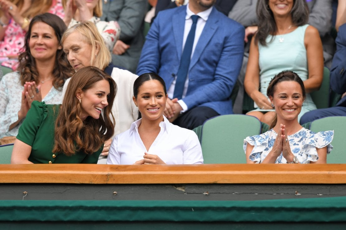 Kate, Meghan e Pippa Middleton nel Royal Box di Wimbledon, luglio 2019