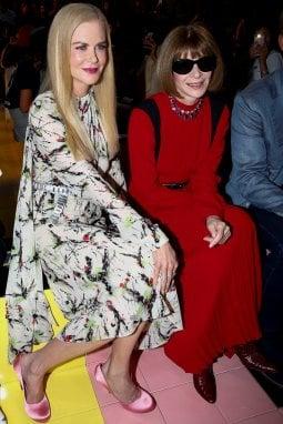 Nicole Kidman e Anna Wintour alla sfilata di Prada