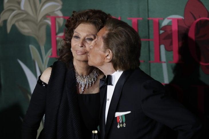Sophia Loren e Valentino, coppia stellare ai Green Carpet Fashion Awards