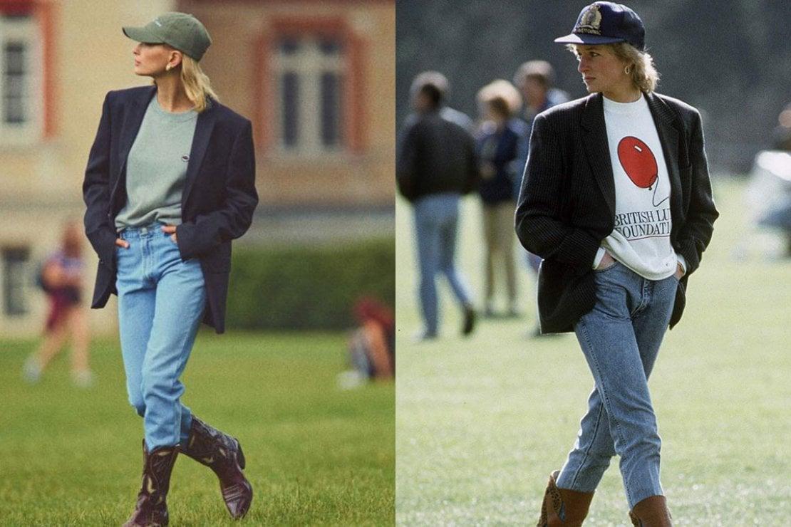Hailey Bieber nei panni di Lady D nel servizio di Vogue