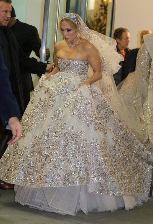 Vestiti Da Sposa Da Sogno.Jennifer Lopez Una Sposa A Manhattan Con L Abito Da Sogno Per Le