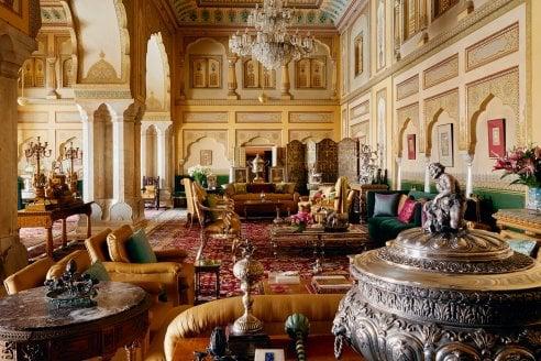 Dentro al palazzo del Maharaja che si può affittare con AirBnb