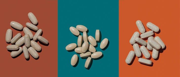 Da sinistra. Con estratti vegetali, coadiuva il metabolismo e svolge un'azione antiossidante. Peso Stop Burn di Erba Vita (25 euro). Aiuta a perdere peso stimolando il metabolismo dei grassi. Kilokal di Pool Pharma (20 euro). Assumendo una compressa mezz'ora prima dei pasti principali, favorisce il controllo del senso di fame. Garacina Forte di Erbamea (12 euro).
