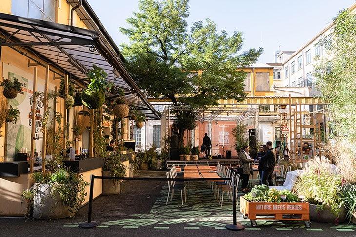 Il giardino urbano di Timberland a Milano