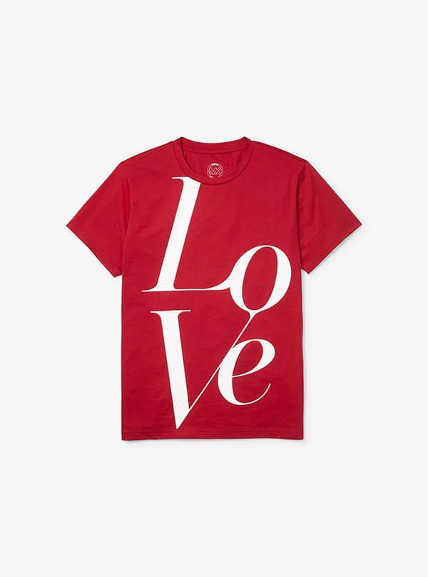 T-shirt special holiday edition its LOVE il cui ricavato va al Programma alimentare mondiale delle Nazioni Unite (WFP), Michael Kors