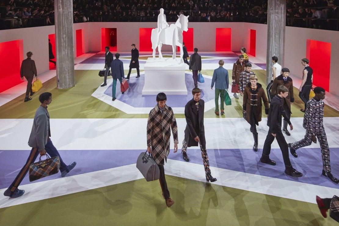Prada menswear show parade fw20