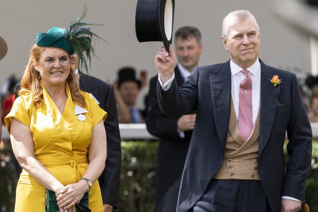 Sarah Ferguson, duchessa di York con l'ex marito principe Andrea, 2019