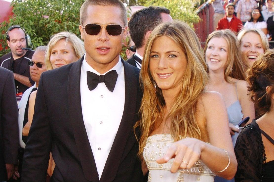Brad Pitt e Jennifer Aniston ai tempi del loro matrimonio, 2004