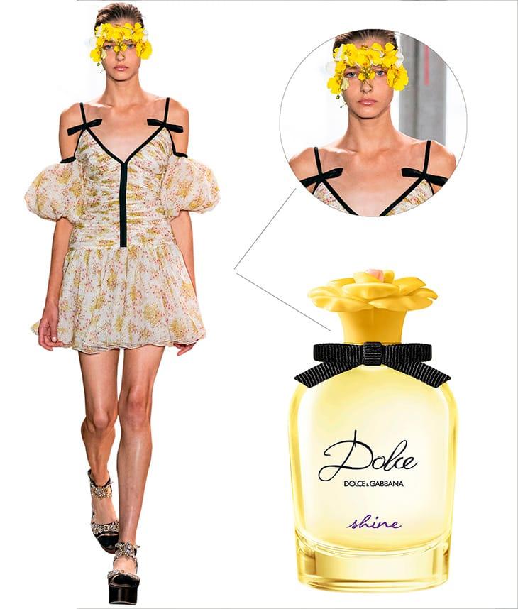 Da sinistra. Foto sfilata Giambattista Valli - profumo Dolce&Gabbana Shine