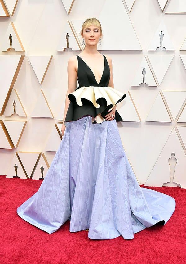 Soairse Ronan con indosso alla serata degli Oscar gioeilli di Gucci High Jewelry