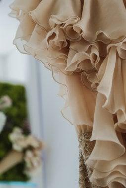 Tessuti colorati con fiori