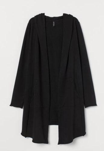 Cardigan-felpa con cappuccio, H&M;