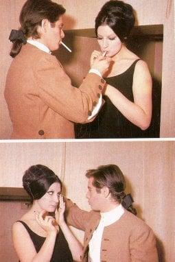 Mina e Corrado Pani nel 1963
