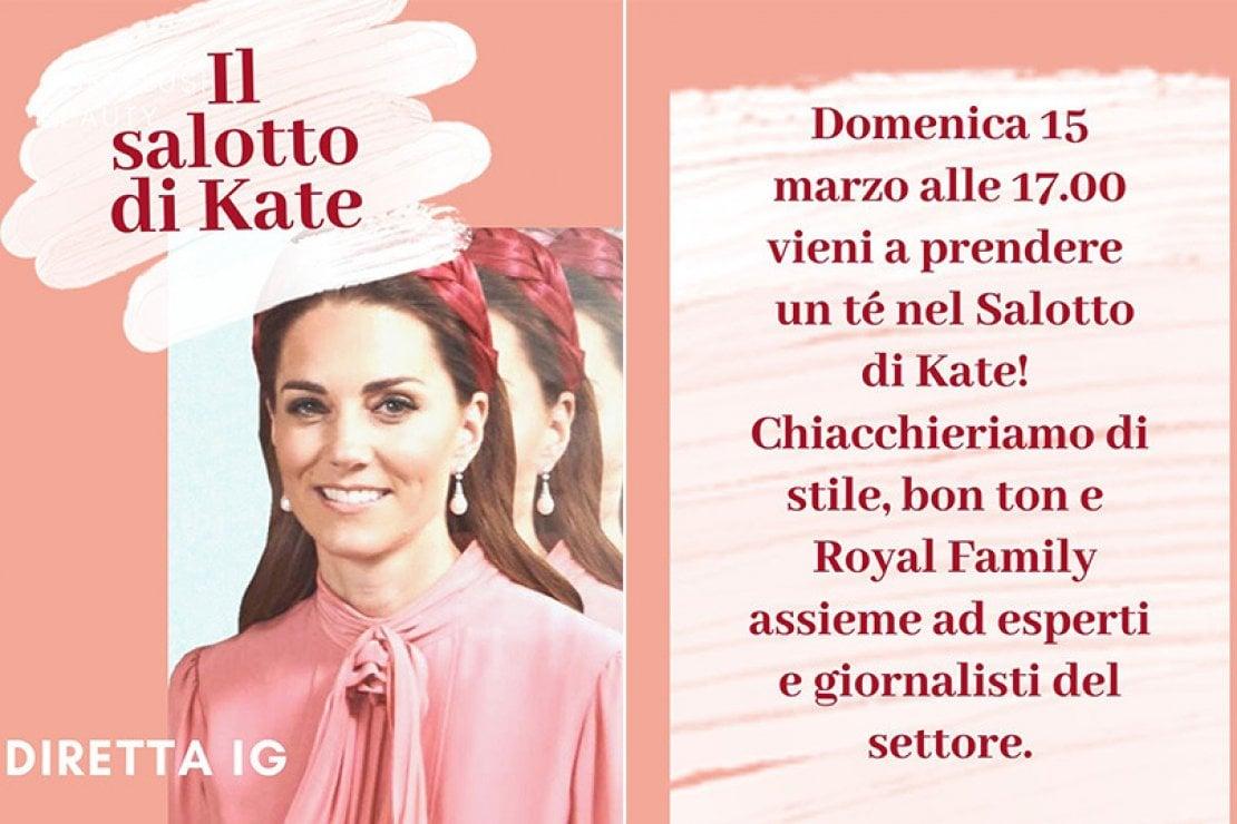 Il salotto di Kate: l'appuntamento virtuale per le appassionate di royal family