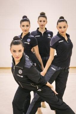 La Nazionale di ginnastica ritmica capitanata da Alessia Maurelli