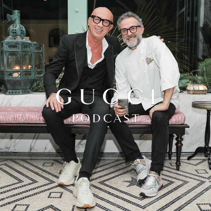 Courtesy Gucci, Marco Bizzarri, Presidente e CEO Gucci, e Massimo Bottura