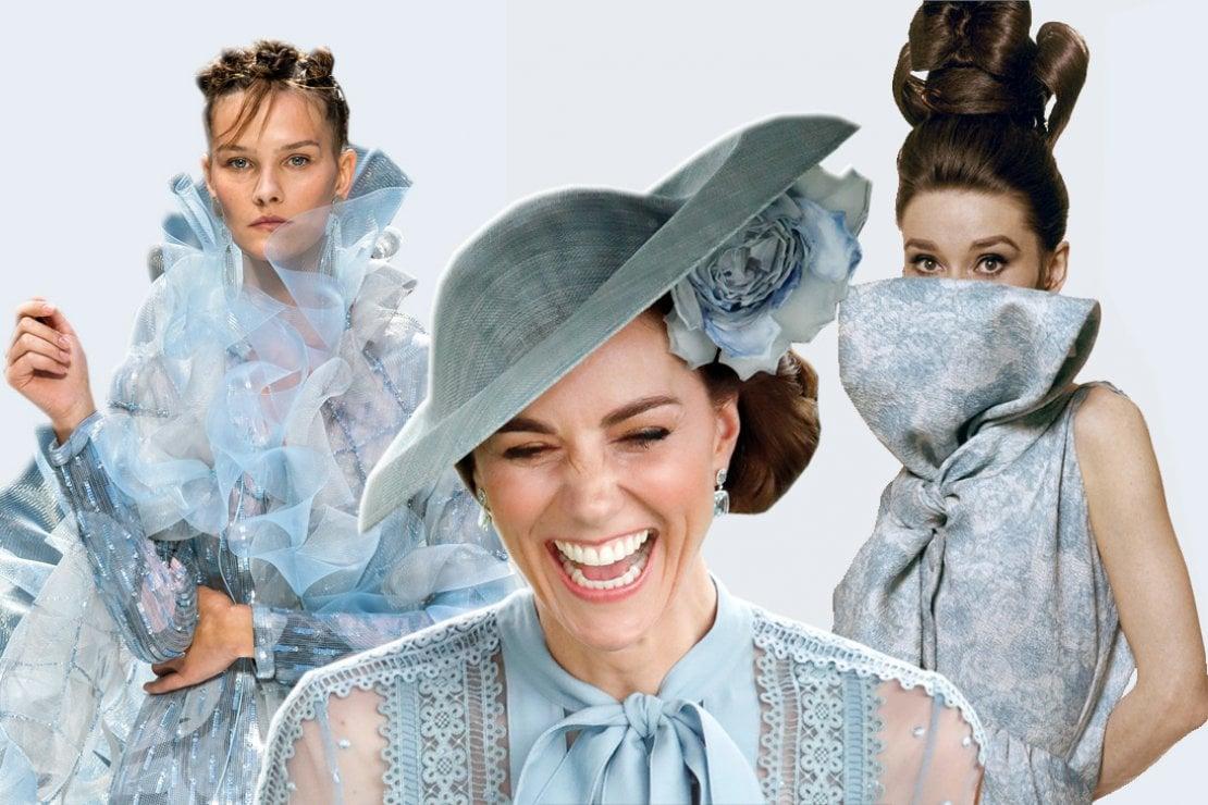 Tutte in abiti color azzurro, come Kate Middleton