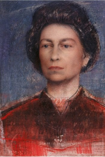 Pietro Annigoni, Study for the portrait, Her Majesty in the robes of the British Empire, 1969 @rct.uk