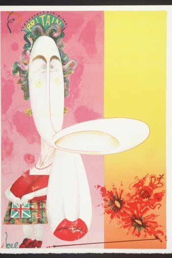 The Queen, 1970, Gerald Scarfe @tate.org.uk