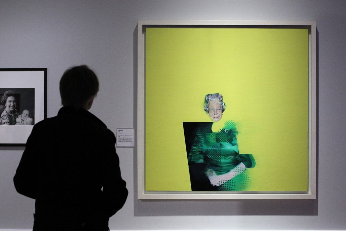 Queen Elizabeth II, Justin Mortimer, 'The Queen: Art and Image' exhibiton, Ulster Museum in Belfast, 2012