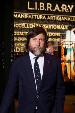 Claudio Marenzi durante le celebrazioni per i 70 anni di Herno alla Leopolda, durante Pitti Immagine Uomo p/e 2019