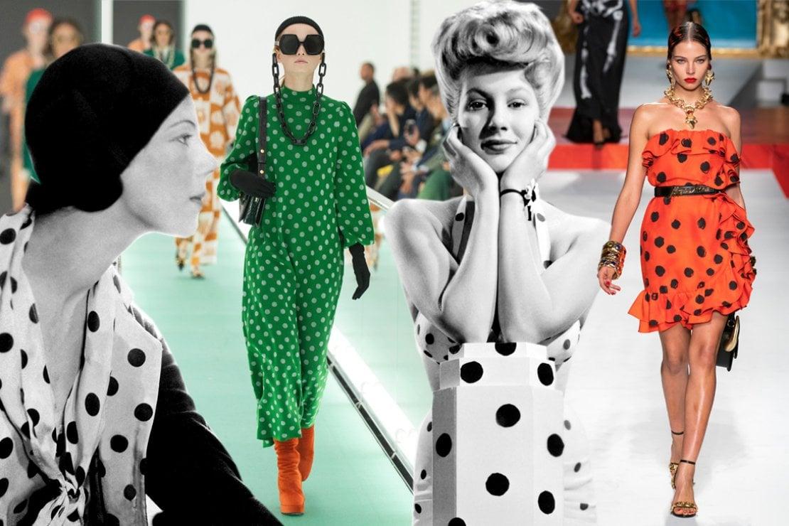 Da sinistra: la sfilata di Gucci, e la sfilata di Moschino