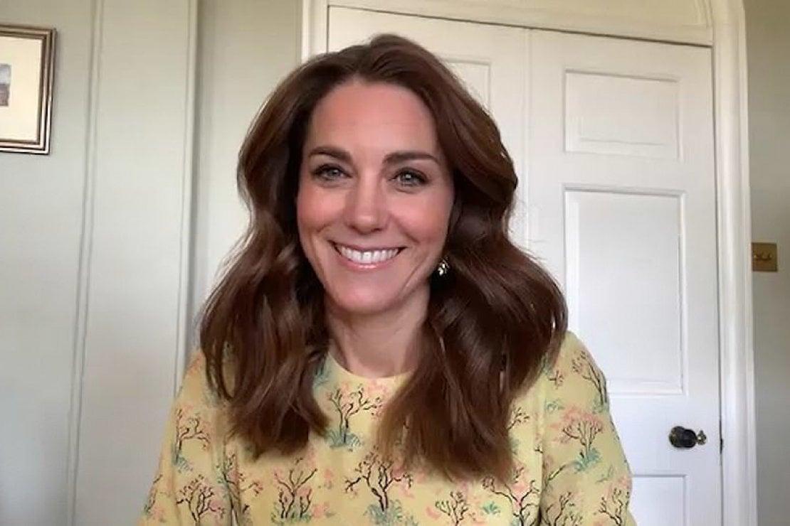 La duchessa di Cambridge durante l'intervista andata in onda sul canale britannico ITV