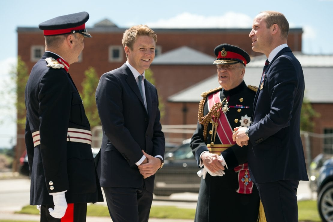 Assieme al principe William nel 2018 a Leeds