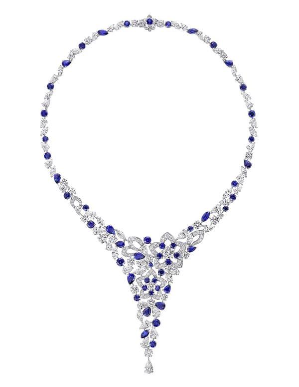 Collana Graff Diamond and Sapphire con zaffiri blu e diamanti bianchi