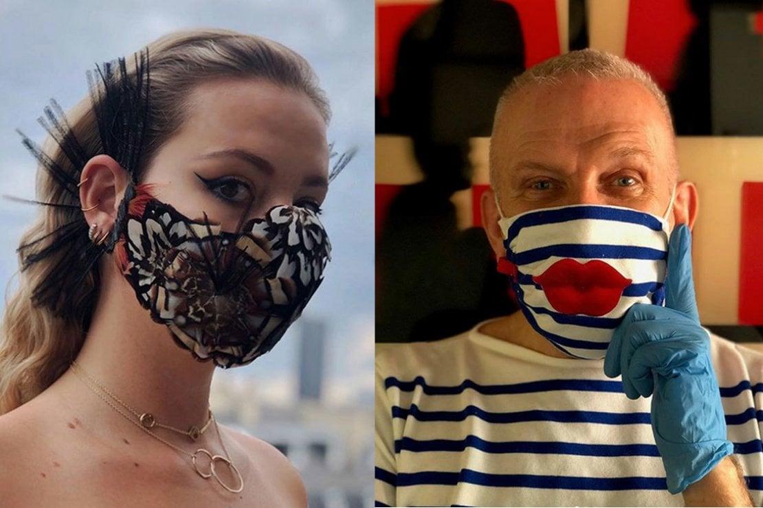 Jean Paul Gaultier firma le prime mascherine haute couture
