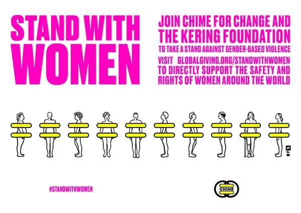 La campagna #Standwithwomen