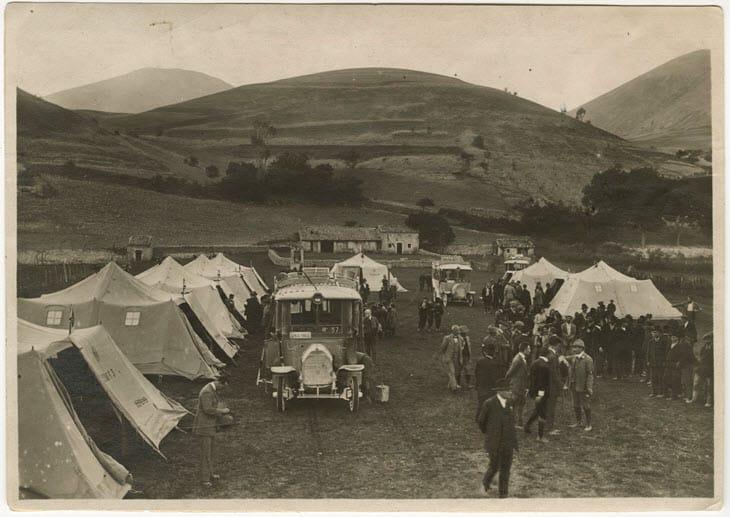 Campeggio del TCI a Pescasseroli (1922)