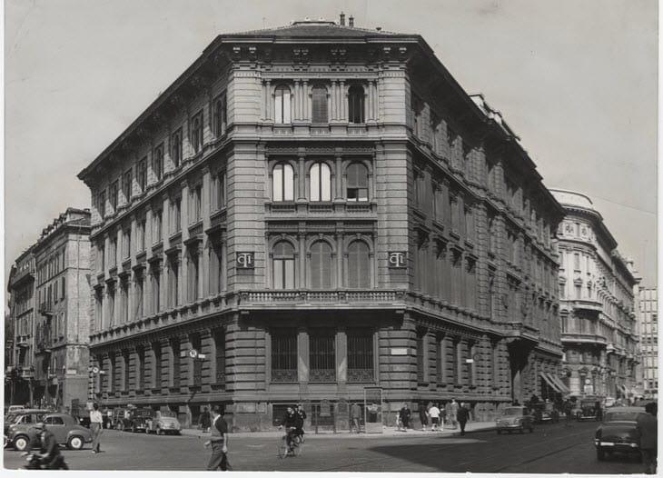 La sede storica del Touring Club Italiano in Corso Italia 10 a Milano