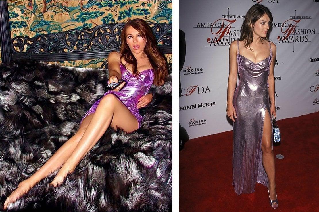 Elizabeth Hurley a 54 anni reindossa l'abito rosa Versace creato per lei un ventennio fa