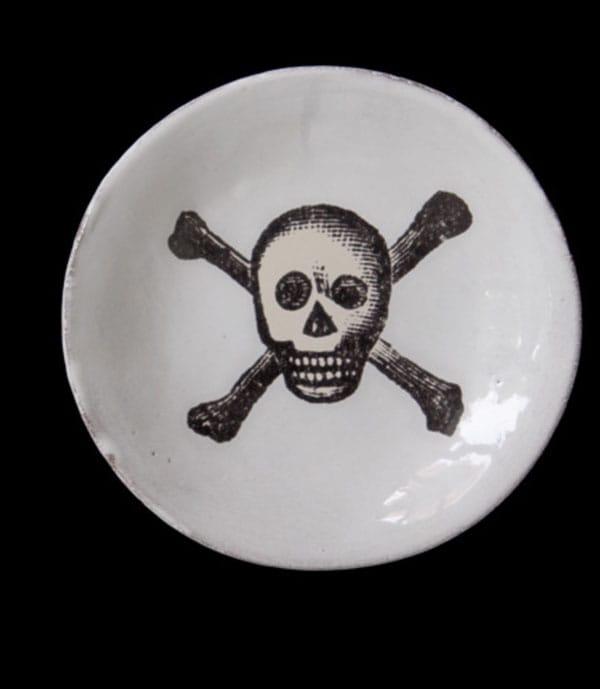 Piatto in ceramica con stampa, Astier de Villatte