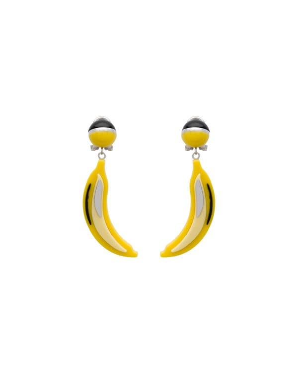 Orecchini a banana, Prada