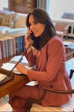 Kate al lavoro nel suo studio di Kensington Palace Foto: @kensingtonroyal