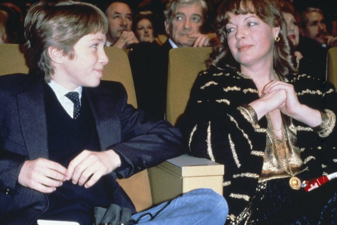 Assieme al figlio David alla cerimonia dei Cesar Awards, poco prima della morte tragica del ragazzo