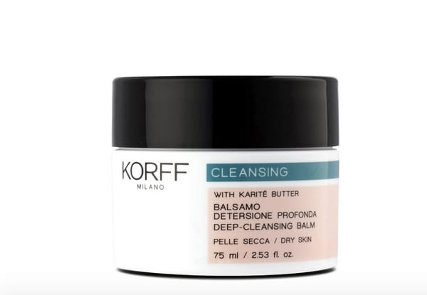 Balsamo detergente viso, ideale per una pulizia profonda della pelle normale e secca, Korff