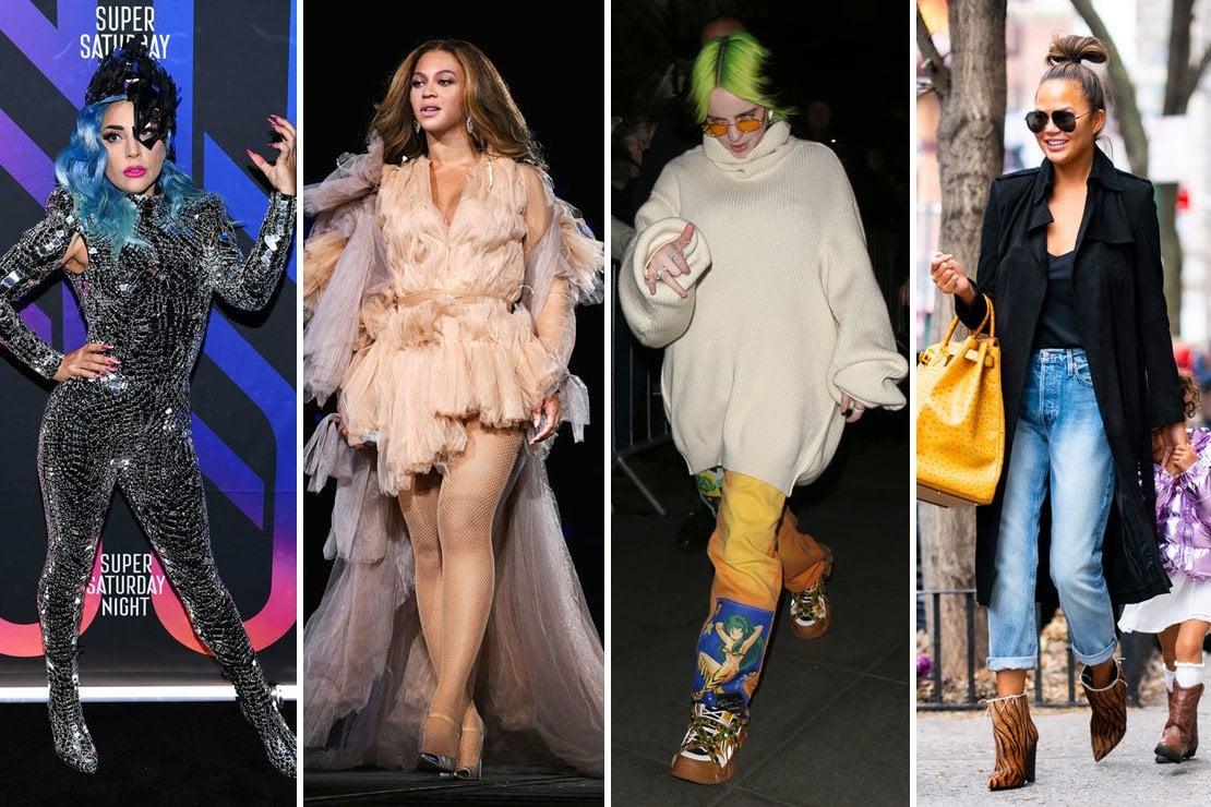 Da sinistra: Lady Gaga, Beyoncé, Billie Eilish e Chrissy Teigen